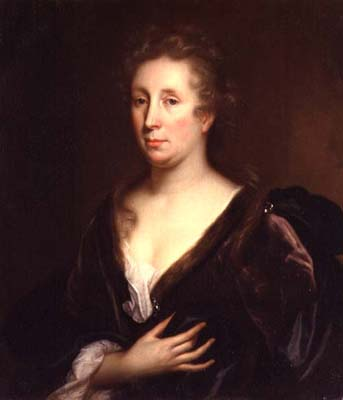 Godfried Schalcken, Portrait of the artist Rachel Ruysch, c. 1643-1706, oil on canvas, 71.8 x 62. 2 cm (Cheltenham Art Gallery and Museum)