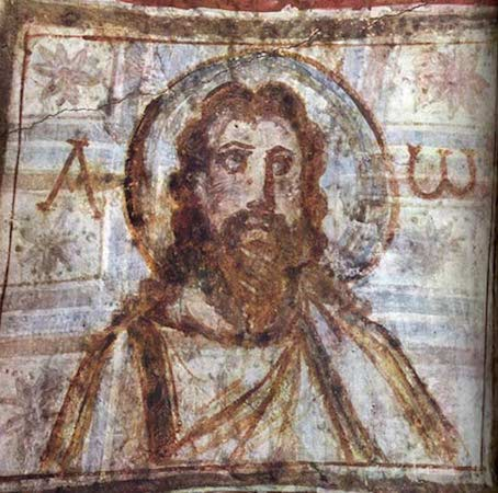 Christ Pantocrator (The Ruler of the Universe), Catacombs of Commodilla, 4th century