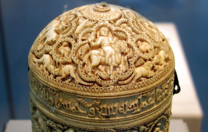 Pyxis of al-Mughira (detail) (photo: Steven Zucker, CC BY-NC-SA 2.0)