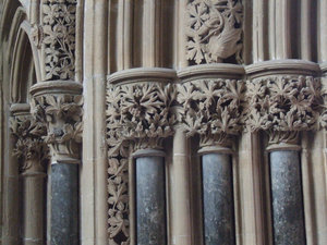 Foliate carvings at Southwell Minster (photo: Mattana)