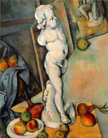 Paul Cézanne, Still Life with Plaster Cupid, c. 1894 oil on canvas, 70.6 x 57.3 cm (Courtauld Gallery, London)