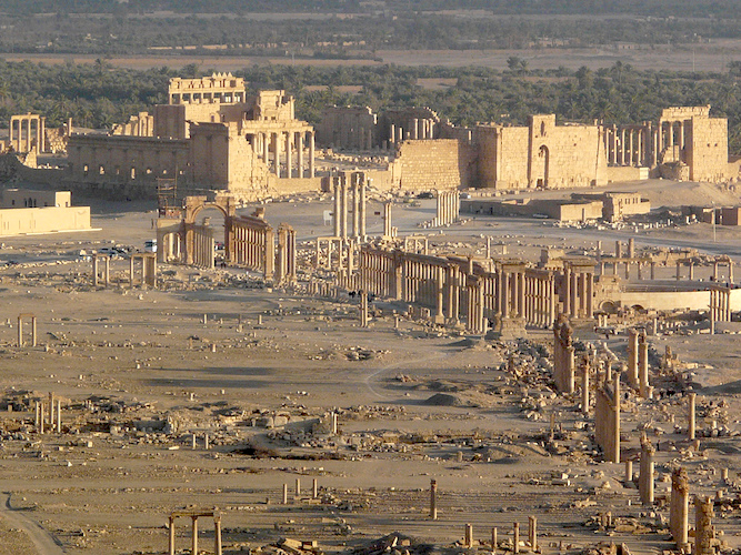 View of Palmyra ruins from the Qala'at Shirukh hill (photo: Varun Shiv Kapur, CC BY 2.0)
