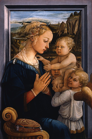 Fra Filippo Lippi, <em>Madonna and Child with Two Angels</em>, ca. 1455 - 1466, tempera on wood (Galleria degli Uffizi, Florence)
