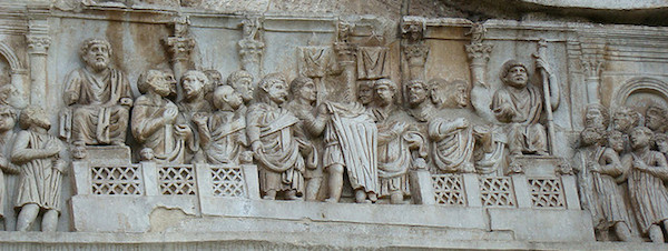 Relief from the Arch of Constantine, 315 C.E., Rome, photo: F. Tronchin (CC BY-NC-ND 2.0)