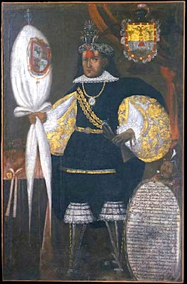 Portrait of Don Marcos Chiguan Topa, c. 1740-45 (Museo Inka, Cuzco, Peru)