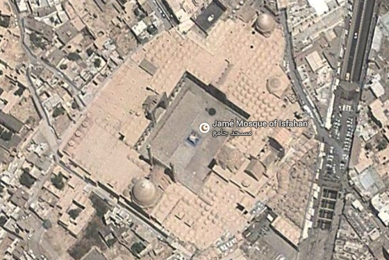 Mosque, Isfahan, imagery ©2014 DigitalGlobe. Map data ©2014 Google