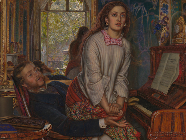 Detail, William Holman Hunt, detail The Awakening Conscience, 1853, oil on canvas, 76.2 x 55.9 cm (Tate Britain, London)