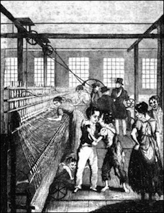 A cotton mill scene, from Frances Trollope's Michael Armstrong: Factory Boy (1840)