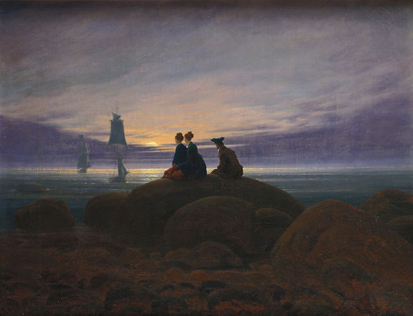 Caspar David Friedrich, Moonrise over the Sea (Mondaufgang am Meer), 1822, oil on canvas, 71 x 55 cm (Alte Nationalgalerie, Berlin)