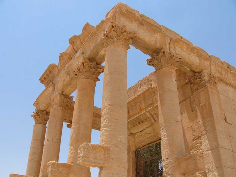 Temple of Baal Shamin, 1st century C.E. (Palmyra—in modern Syria) (photo: Paul Kidd, CC BY-NC-SA 2.0), CC BY 2.0)