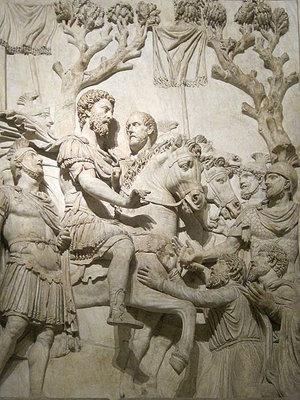 Adventus of Marcus Aurelius, 1st century C.E., marble (Palazzo dei Conservatori, Rome) (photo: Jean-Pol Grandmont)