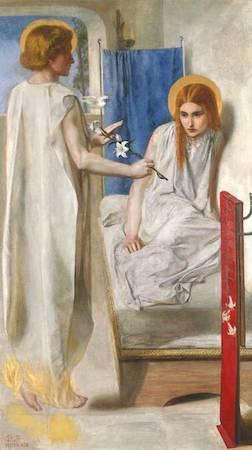 Dante Gabriel Rossetti,Ecce Ancilla Domini, 1849-50, oil on canvas, 73 cm x 42 cm (Tate Britain, London)