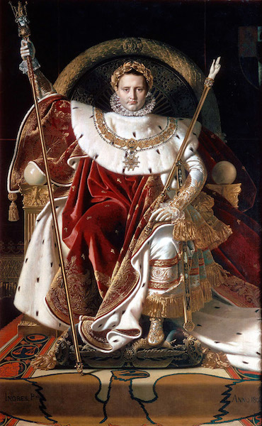 Jean-Auguste-Dominique Ingres, Napoleon on his Imperial Throne, 1806, oil on canvas, 260 x 163 cm (Musée de l'Armée, Paris)