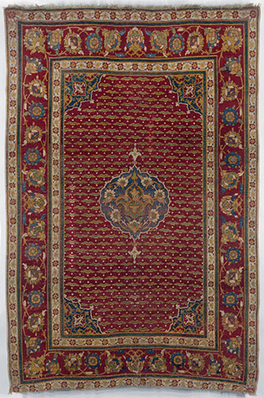 Carpet (Ottoman) with cintamani motif, c. 1550, Cairo, Egypt, wool, 79 x 48 inches (Metropolitan Museum of Art)