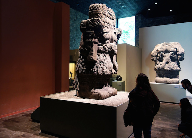 Coatlicue, c. 1500, Mexica (Aztec), found on the SE edge of the Plaza mayor/Zocalo in Mexico City, basalt, 257 cm high (National Museum of Anthropology, Mexico City)