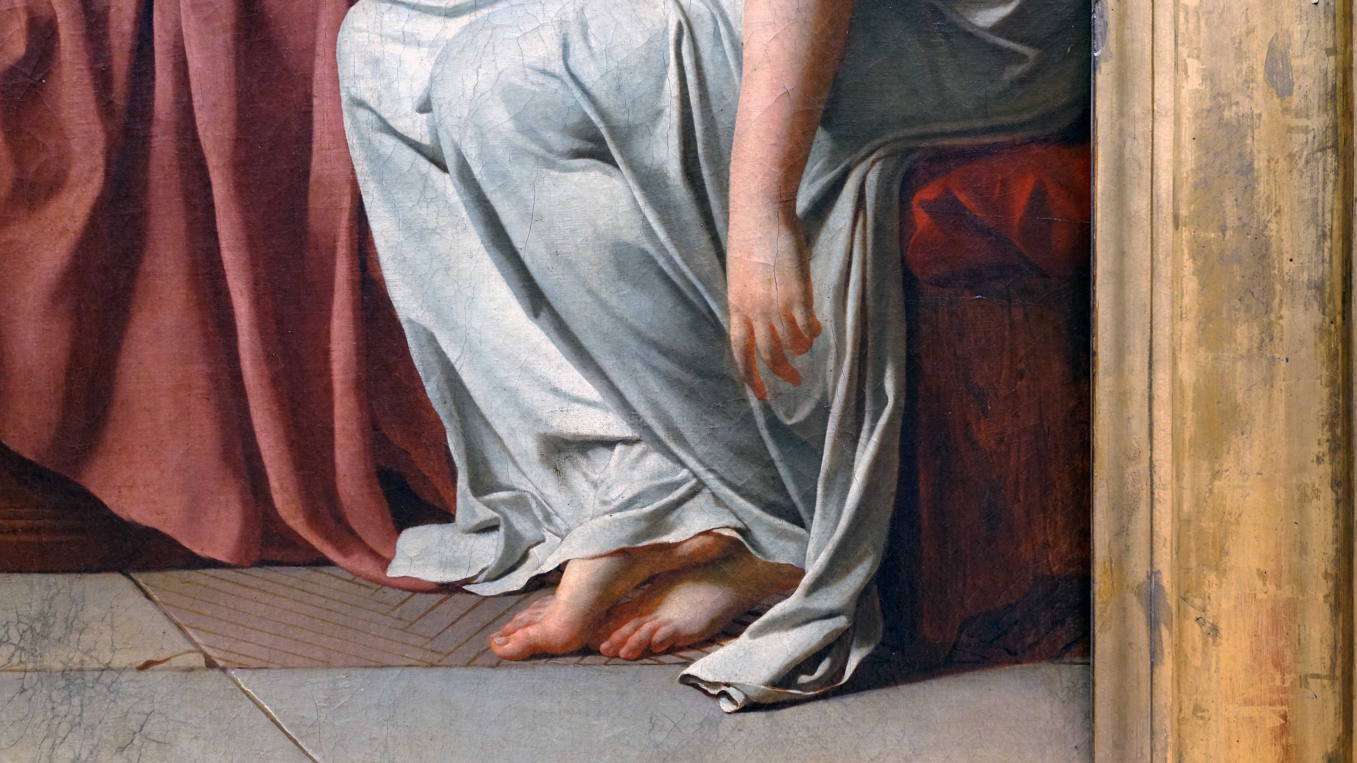 Hand Detail Jacques Louis David Oath Of The Horatii Oil On Canvas 3 3 X 4 25m Commissioned By Louis Xvi Painted In Rome Exhibited At The Salon Of