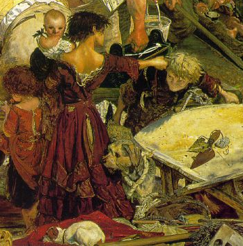 Children (detail), Ford Madox Brown, Work, 1852-65, oil on canvas, 137 x 197.3 cm (Manchester City Art Galleries, Manchester)