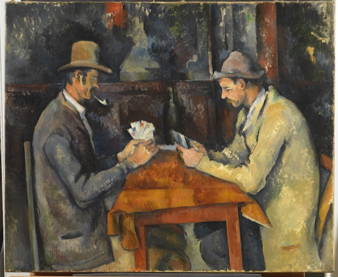 Paul Cézanne, The Card Players, c. 1892-95, oil on canvas, 60 x 73 cm (The Courtauld Gallery, London)