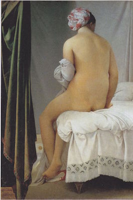 Jean Auguste Dominique Ingres, The Valpinçon Bather, 1808. oil on canvas, 57 x 38.4 cm (Louvre, Paris)