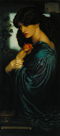 Dante Gabriel Rossetti, Proserpine 1874, oil on canvas, 125.1 x 61 cm (Tate)