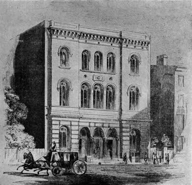 Astor Library, from Gleason's Pictorial Drawing Room Companion, February 25, 1854