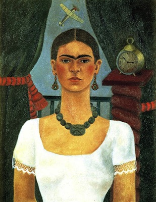 Frida Kahlo, Self-portrait (Time Flies), 1929 (private collection)