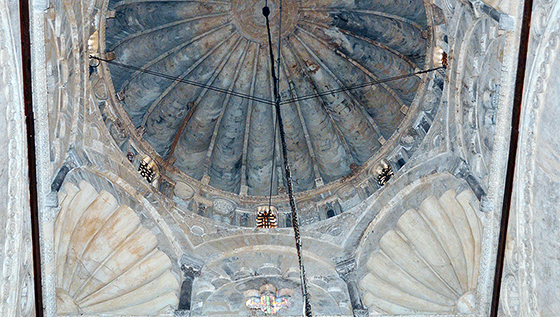 Interior view of the dome above the mihrab, Great Mosque of Kairouan (photo: Richard Mortel, CC BY-NC-SA 2.0)
