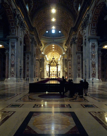 Numerous architects (see below), Nave, Saint Peter's Basilica, begun 1506 completed 1626 (Vatican City)