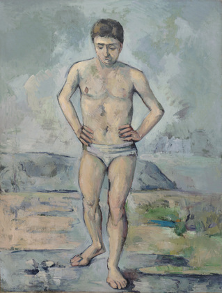 Paul Cézanne, The Bather, 1885-86, oil on canvas, 127 x 96.8 cm (The Museum of Modern Art)