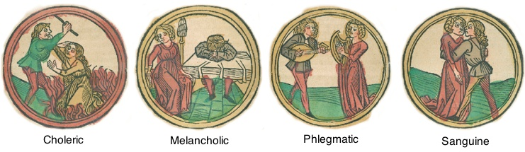 The Four Humors, from Deutche Kalendar, 1498 (Pierpont Morgan Library)
