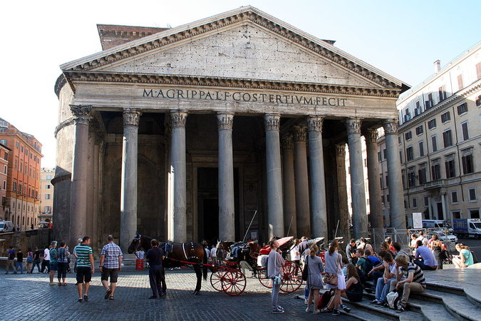 Pantheon, 126 C.E., Rome (photo: Jean-Pol GRANDMONT CC BY 3.0)