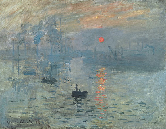 Claude Monet, Impression, Sunrise, 1872, oil on canvas, 48 x 63 cm (Musée Marmottan Monet, Paris)