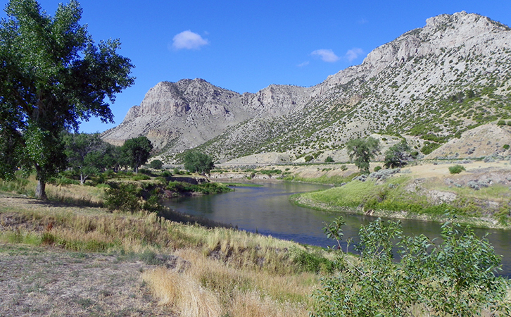 Wind River Canyon, Wind River Indian Reservation, Wyoming (photo: J. Stephen Conn, CC BY-NC 2.0)