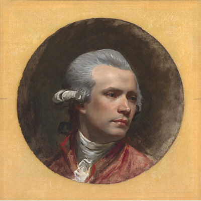 John Singleton Copley, Self-Portrait, 1780-84, oil on canvas, 32 x 32 cm (National Portrait Gallery, Smithsonian)