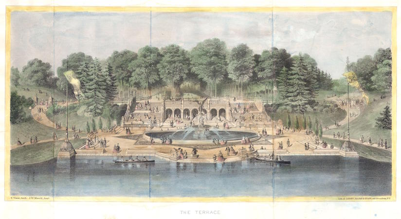 Major and Knapp Engraving, Manufacturing, and Lithographic Company, The Terrace, 1869, color lithograph