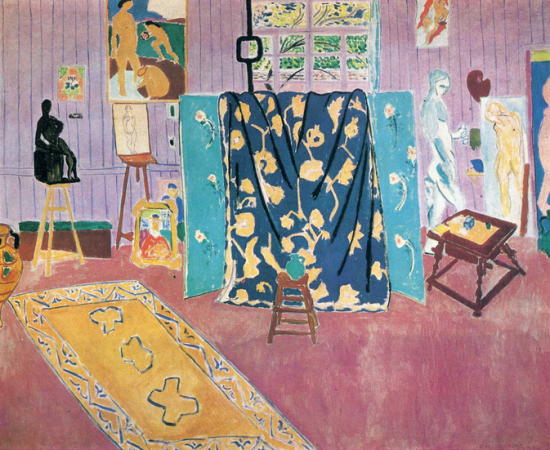 Henri Matisse, The Pink Studio, 1911, oil on canvas, 181 x 221 cm (Pushkin Museum of Fine Art, Moscow)