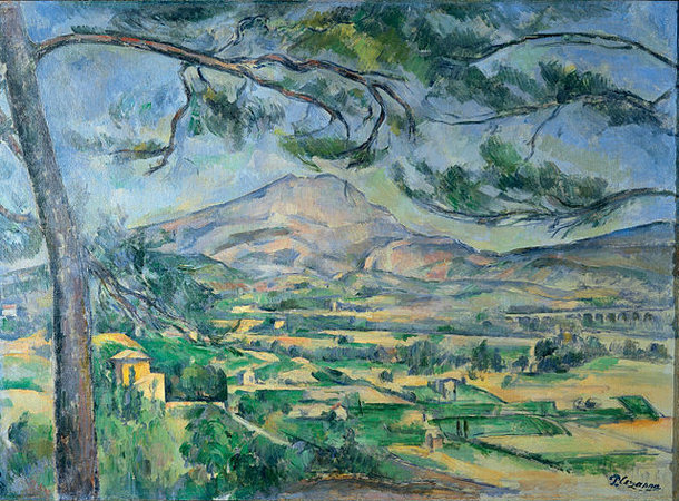 Paul Cézanne, Mont Sainte-Victoire with Large Pine, c. 1887, oil on canvas, 66.8 c 92.3 (The Courtauld Gallery, London)