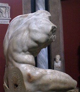 Belvedere Torso, marble copy of a Greek bronze original, probably from the 2nd century B.C.E. (Vatican Museums) (photo: Giovanni, CC BY-SA 2.0)