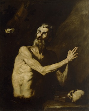 Jusepe de Ribera, St Paul the Hermit, c. 1638, oil on canvas,132.7 x 106.7 cm (Walters Art Museum, Baltimore)