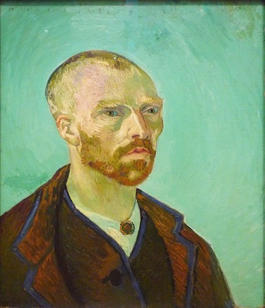 Vincent van Gogh, Self-Portrait (Dedicated to Gauguin), 1888, 65 x 52 cm (Fogg Art Museum, Cambridge)