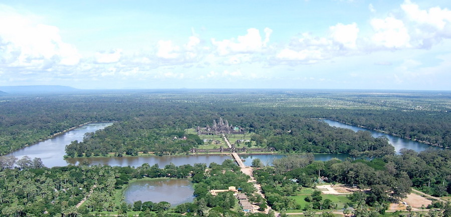 Aerial view, Angkor Wat, Siem Reap, Cambodia, 1116-1150 (photo: shankar s., CC BY 2.0)