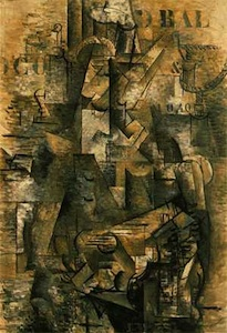 Georges Braque, The Portuguese, 1911, oil on canvas, 116.8 x 81 cm (Kunstmuseum Basel, Basel, Switzerland)