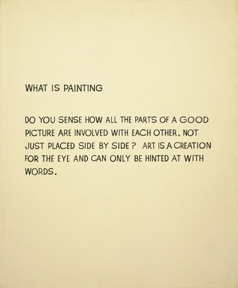 John Baldessari, What is Painting, 1966-68, synthetic polymer paint on canvas, 172.1 x 144.1 cm (The Museum of Modern Art, New York) (© 2014 John Baldessari, courtesy of the artist)
