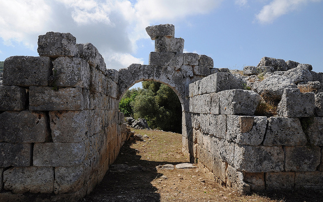 Fortifications and gate, Palairos (Greece)