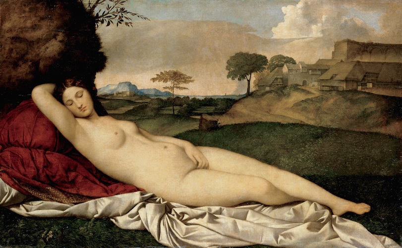 Giorgione, Sleeping Venus, c. 1510, oil on canvas, 108.5 x 175 cm (Gemäldegalerie Alte Meister, Dresden)