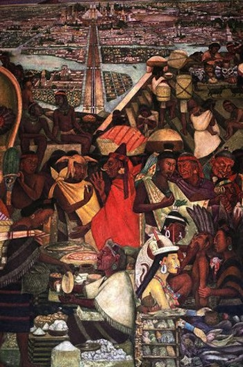 Mesoamerica 7 1 the first cities and states appear for Diego rivera tenochtitlan mural