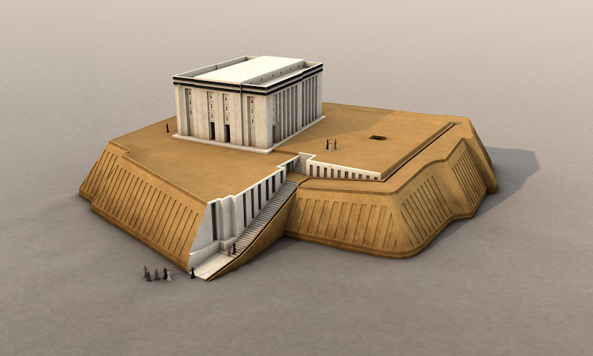 Digital reconstruction of the White Temple, Uruk (modern Warka), c, 3517-3358 B.C.E.