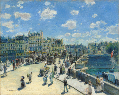Auguste Renoir, Pont Neuf, Paris, 1872, oil on canvas, 75.3 x 93.7 cm (National Gallery of Art, Washington, DC)
