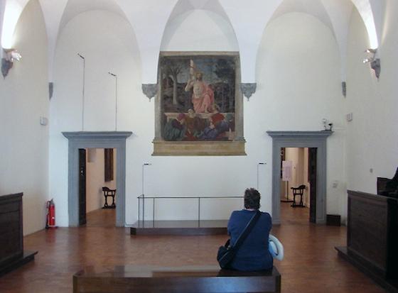 Piero della Francesca, The Resurrection, c. 1463-5, fresco, 225 x 200 cm, Museo Civico, Sansepolcro (photo: Jan Van Duppen, with permission)