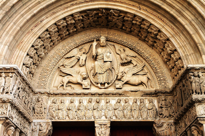 Tympanum and lintel, Saint Trophime (photo: Claude Valette, CC BY-ND 2.0)